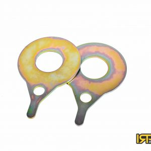 Rear trailing arm reinforcement plates for coilover spring BMW E46 001